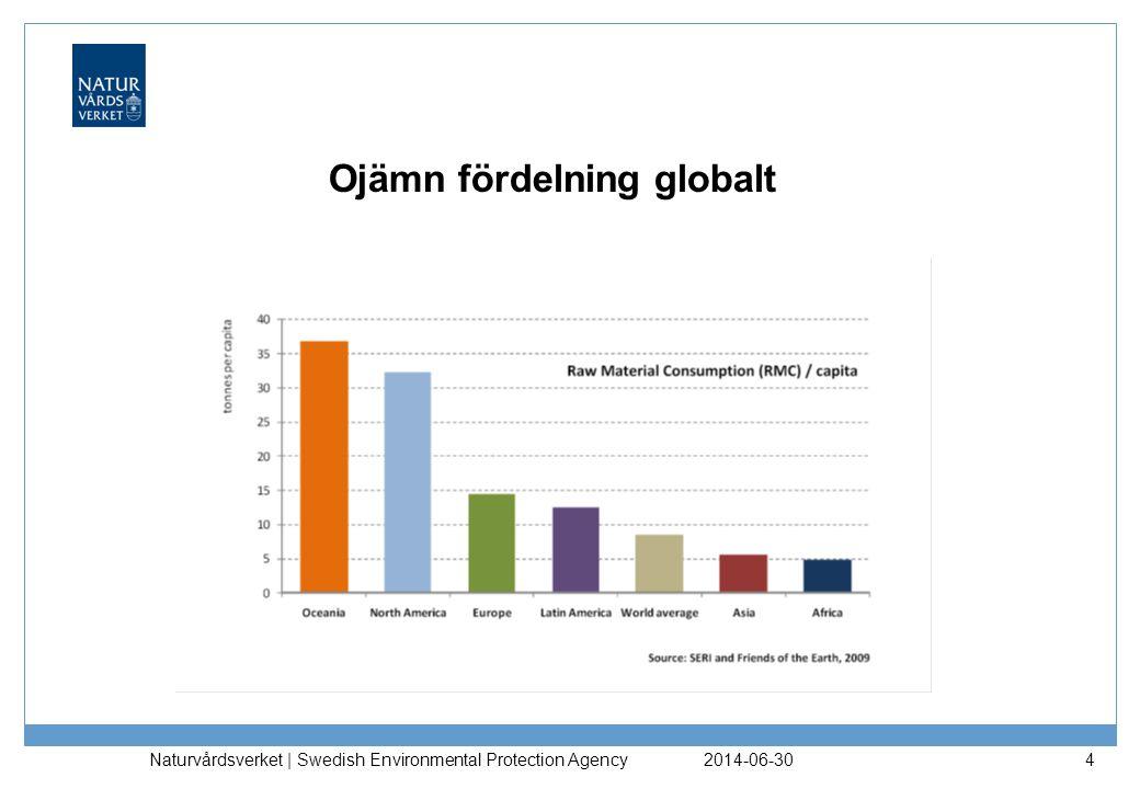 2014-06-30 Naturvårdsverket | Swedish Environmental Protection Agency 4 Ojämn fördelning globalt