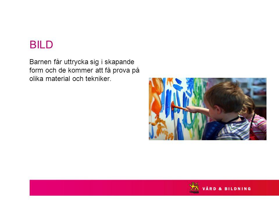 BILD Barnen får uttrycka sig i skapande form och de kommer att få prova på olika material och tekniker.