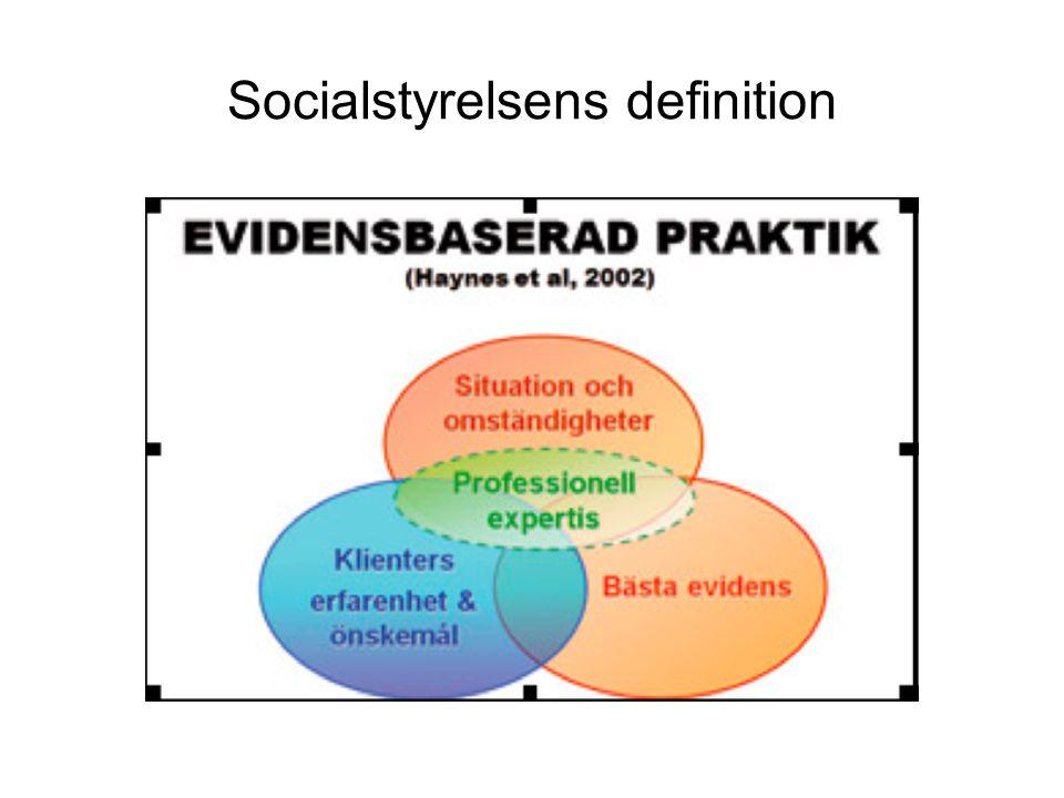 Socialstyrelsens definition