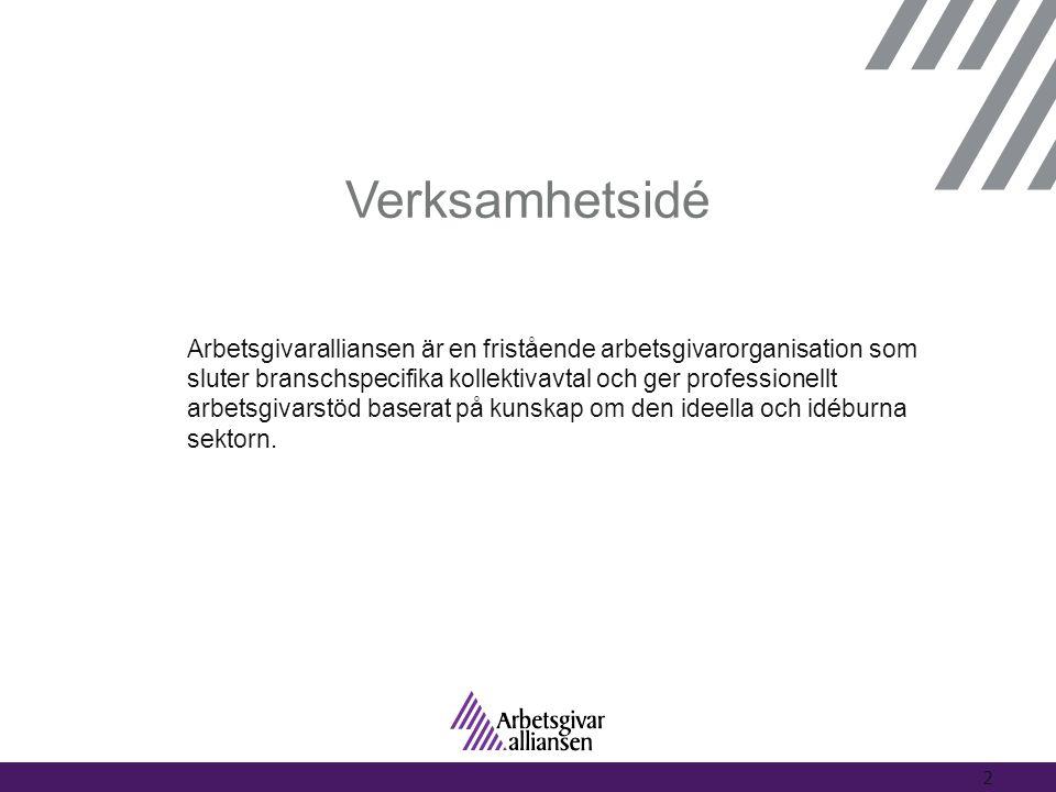 Verksamhetsidé Arbetsgivaralliansen är en fristående arbetsgivarorganisation som sluter branschspecifika kollektivavtal och ger professionellt arbetsg