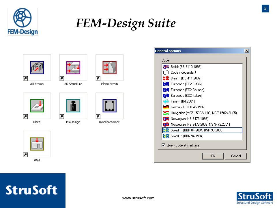 5 januari 2006www.strusoft.com FEM-Design Suite. FEM-Design Suite