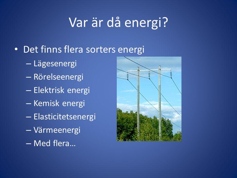 Var är då energi.