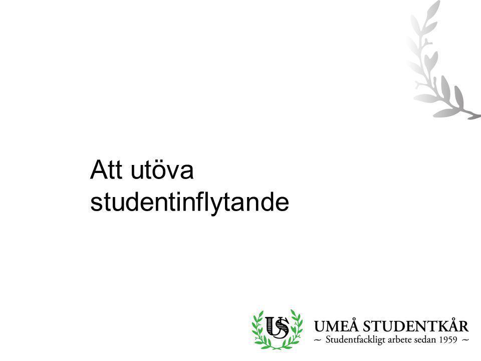 Att utöva studentinflytande
