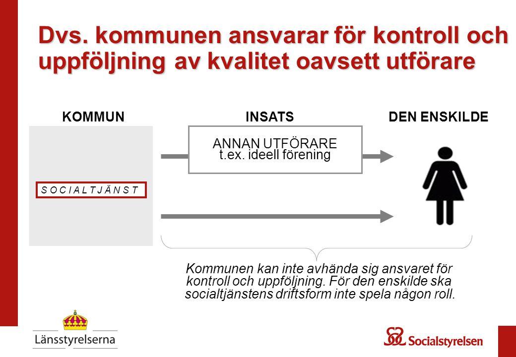1 ANNAN UTFÖRARE t.ex.