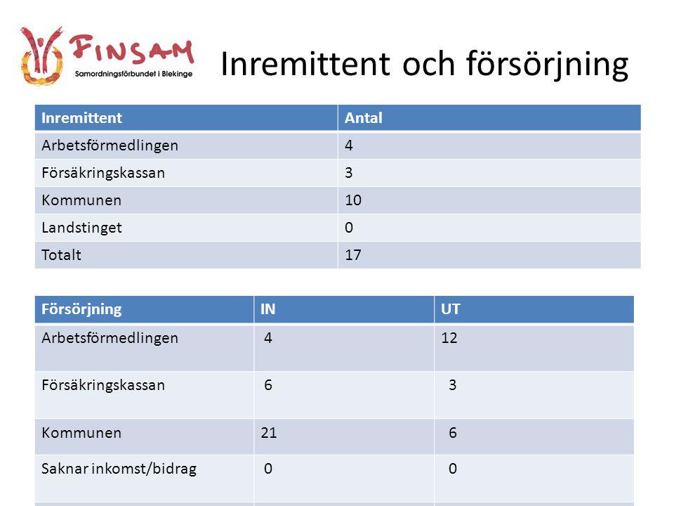 Materiella förhållanden Andra Individen-arbetsallians Mening/förklaring Finsam-projektet Karlshamn Ekonomins betydelse för återhämtning vid psykisk sjukdom enl.