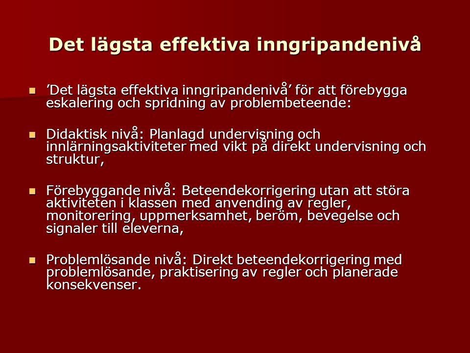 Dom bortvalda eleverna  En undersökning bland 1111 elever i årskurs 2 i 63 klasser ved 31 grunnskolor i Stockholm  Eleverna valde 3 medelever dom ville leka med og 3 elever som dom inte ville leka med  18% av elevene blev bortvald av medeleverna  Hvem blev bortvald.