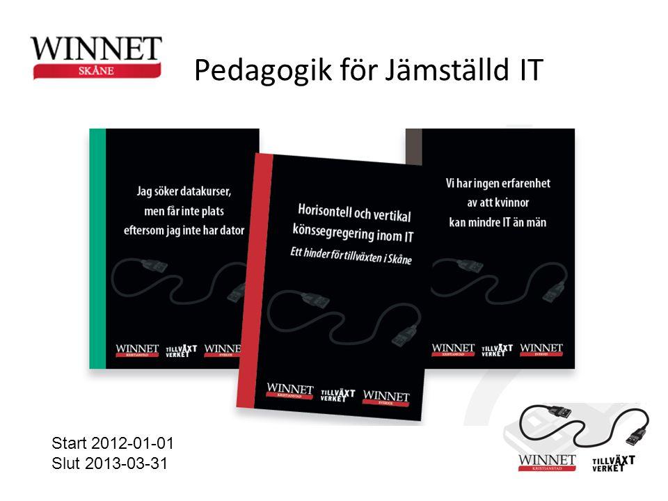 Start 2012-01-01 Slut 2013-03-31 Pedagogik för Jämställd IT
