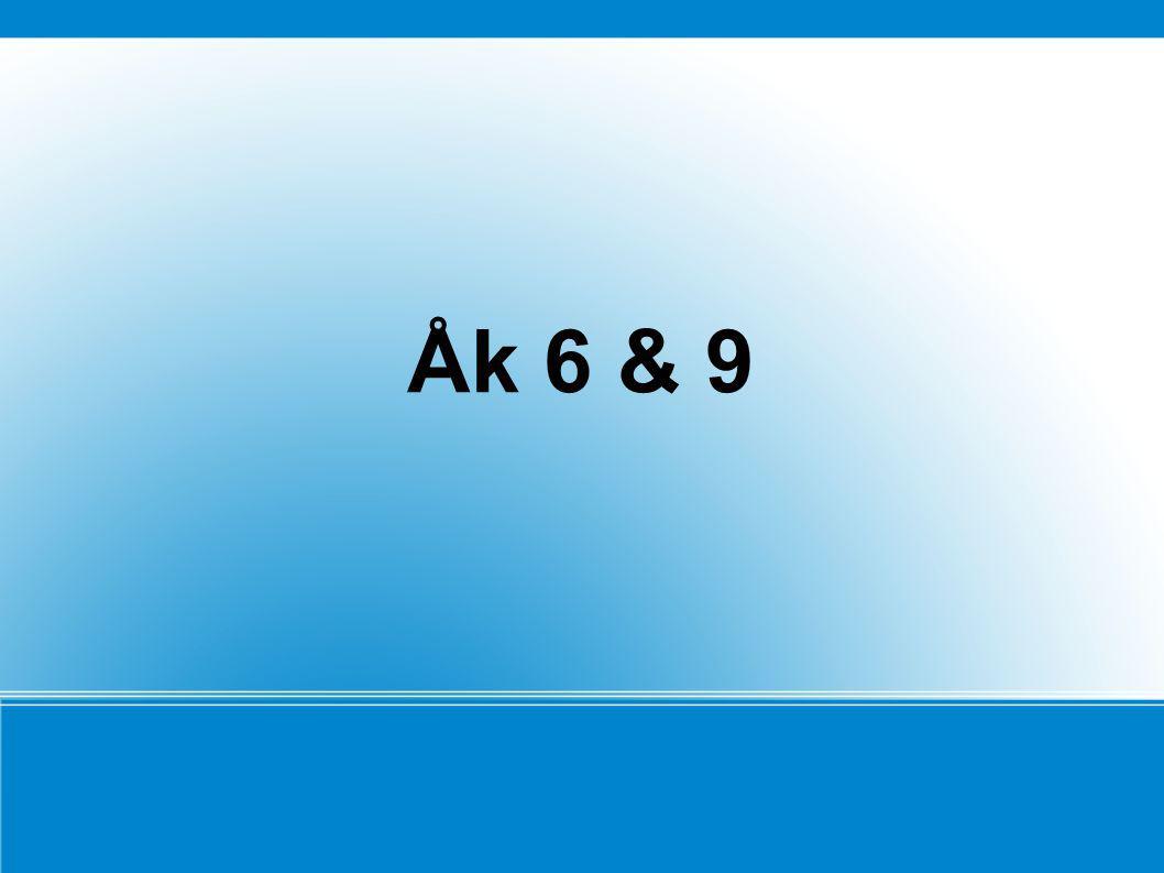 Åk 6 & 9