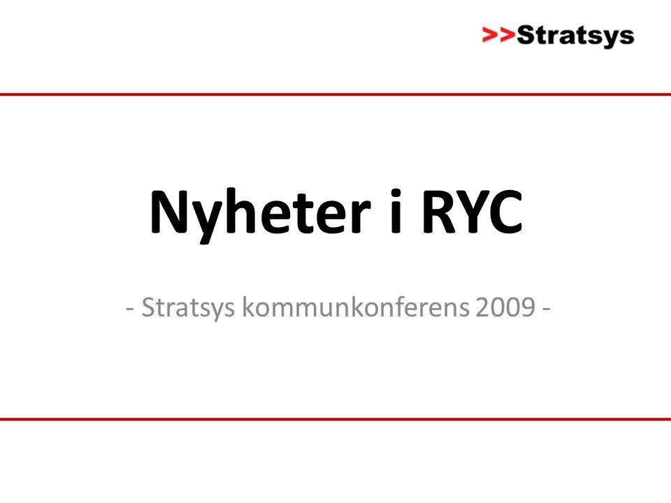 Nyheter i RYC - Stratsys kommunkonferens 2009 -