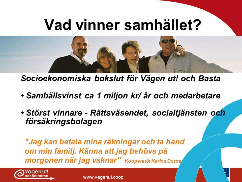 www.vagenut.coop Vad vinner samhället?