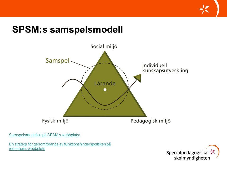 Samspelsmodellen på SPSM:s webbplats/ En strategi för genomförande av funktionshinderspolitiken på regerigens webbplats SPSM:s samspelsmodell