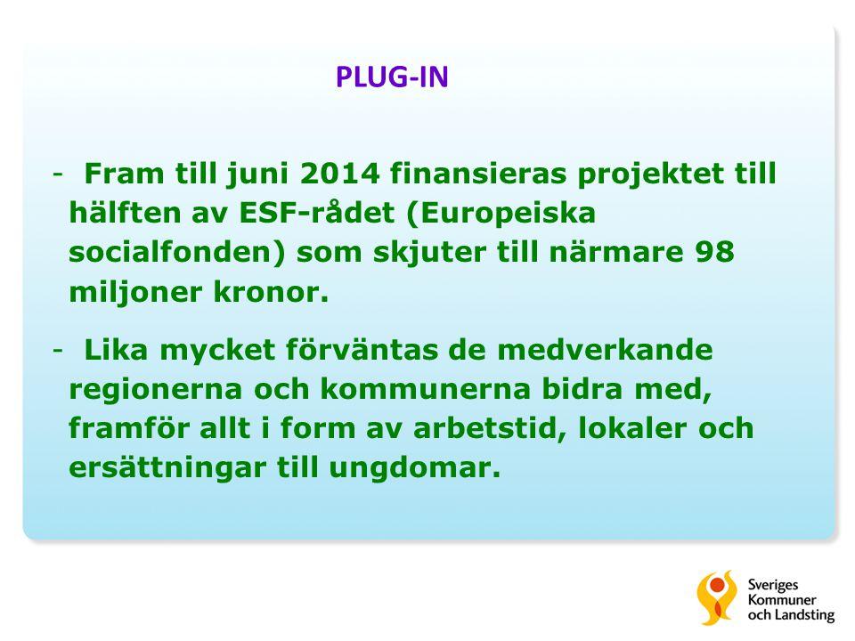 -Fram till juni 2014 finansieras projektet till hälften av ESF-rådet (Europeiska socialfonden) som skjuter till närmare 98 miljoner kronor.