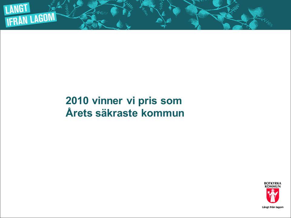 2010 vinner vi pris som Årets säkraste kommun