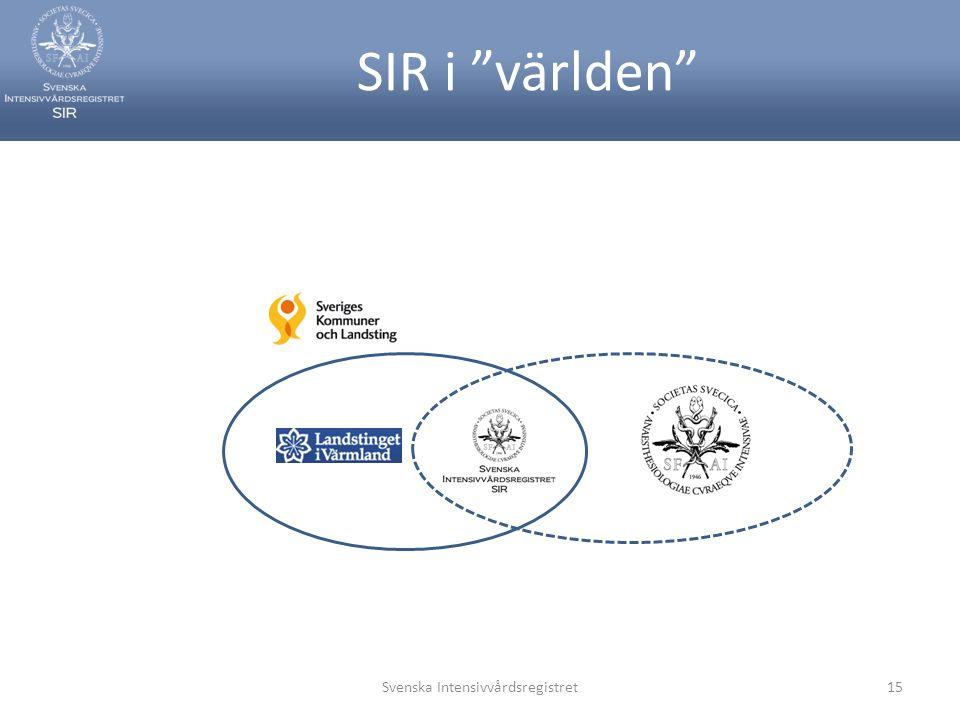"""SIR i """"världen"""" Svenska Intensivvårdsregistret15"""