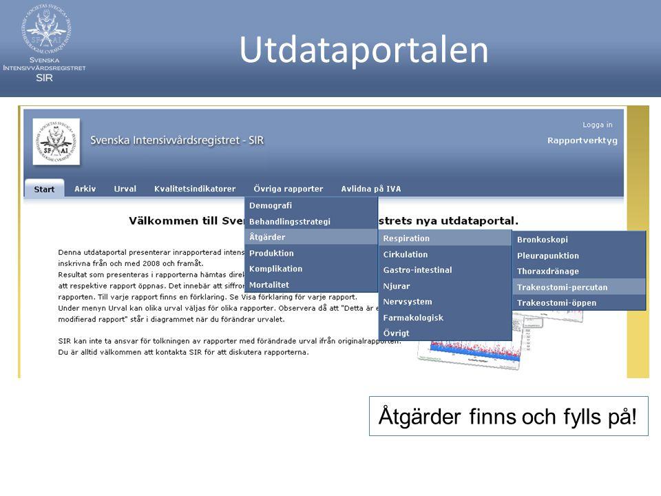Utdataportalen Åtgärder finns och fylls på!