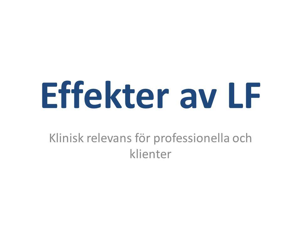 Effekter av LF Klinisk relevans för professionella och klienter