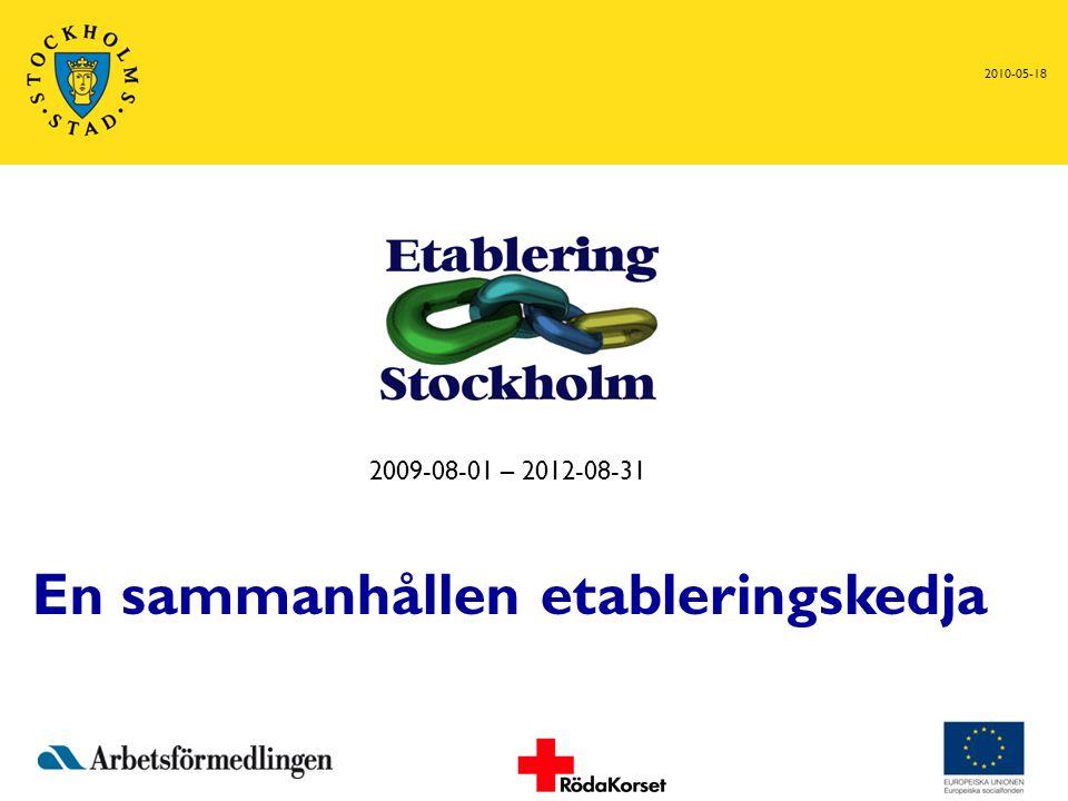 2010-05-18 2009-08-01 – 2012-08-31 En sammanhållen etableringskedja