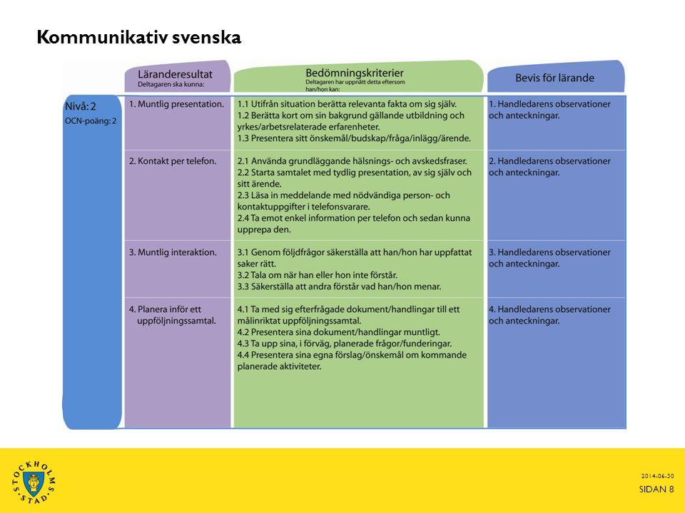 2014-06-30 SIDAN 8 Kommunikativ svenska