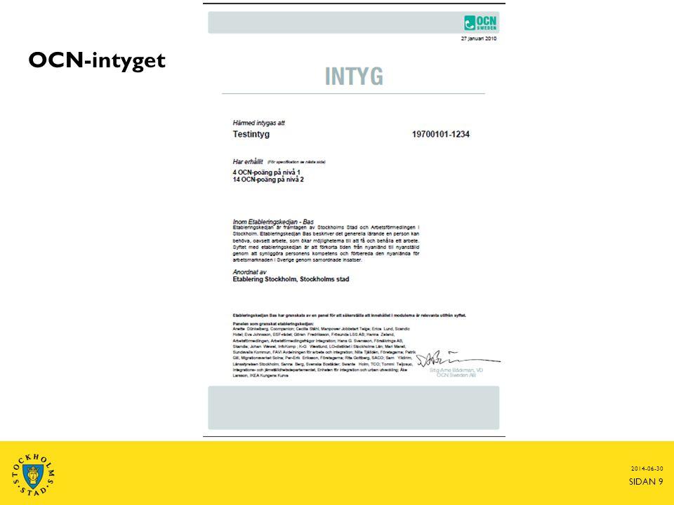 2014-06-30 SIDAN 9 OCN-intyget