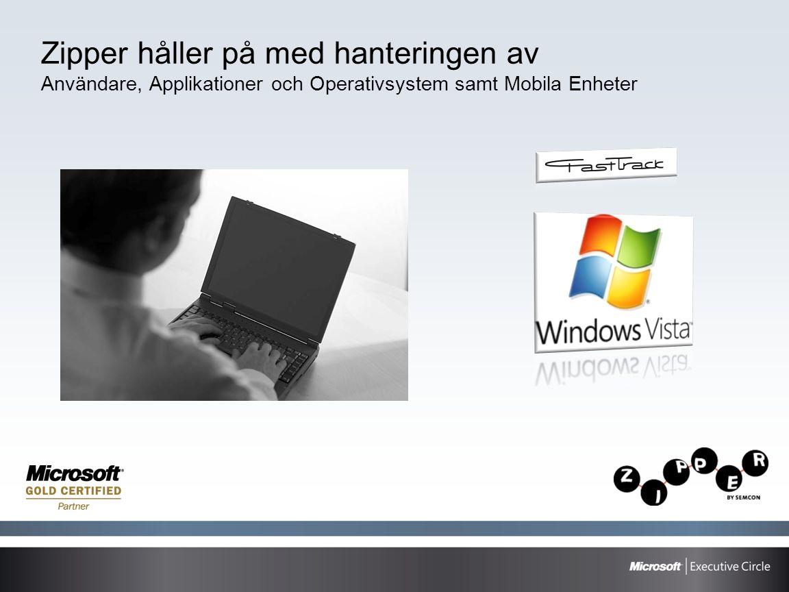 Zipper håller på med hanteringen av Användare, Applikationer och Operativsystem samt Mobila Enheter