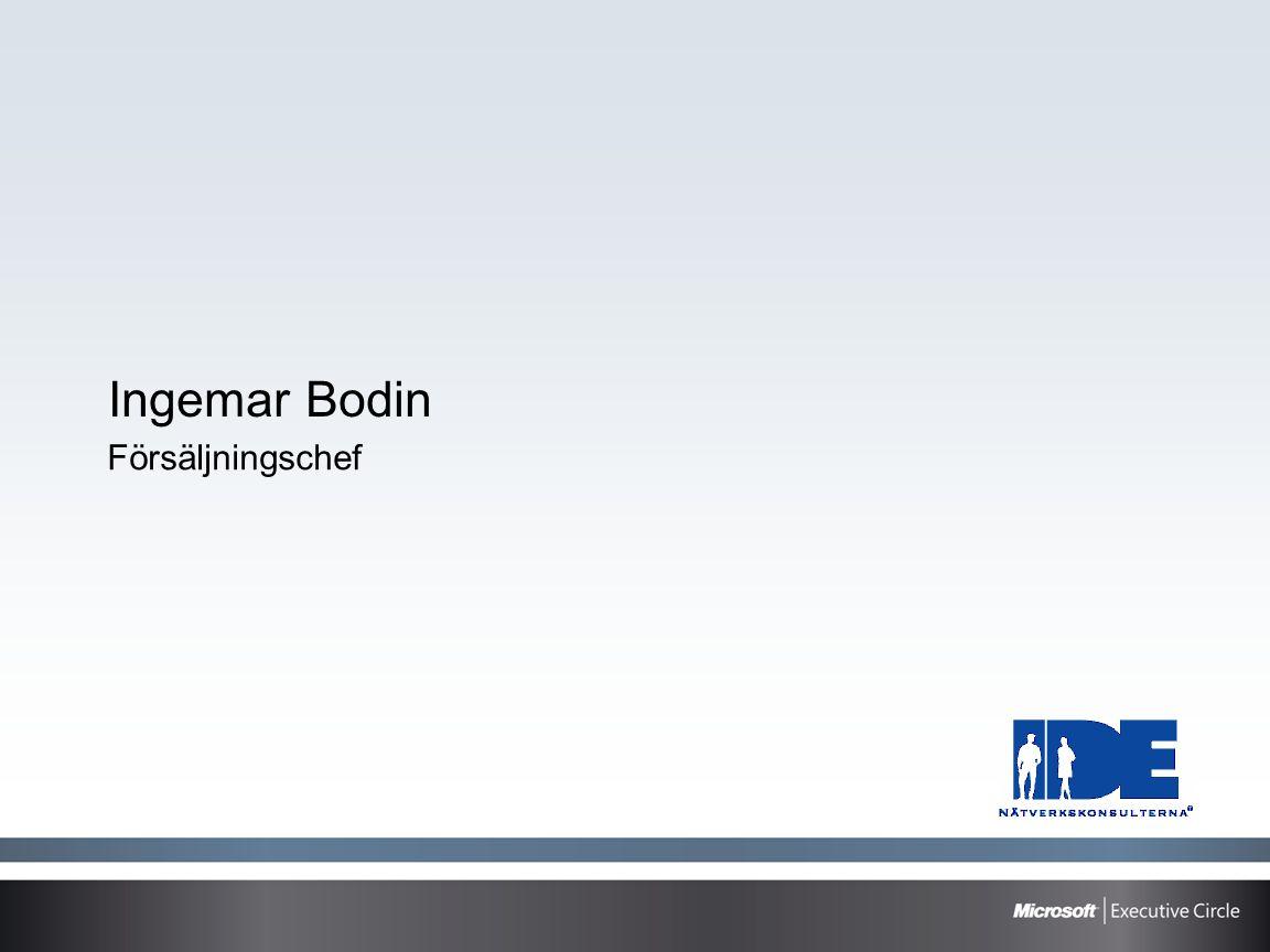 Ingemar Bodin Försäljningschef