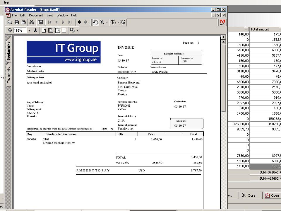 Priser DDS – Kundfakturor32 000 –Inkl.