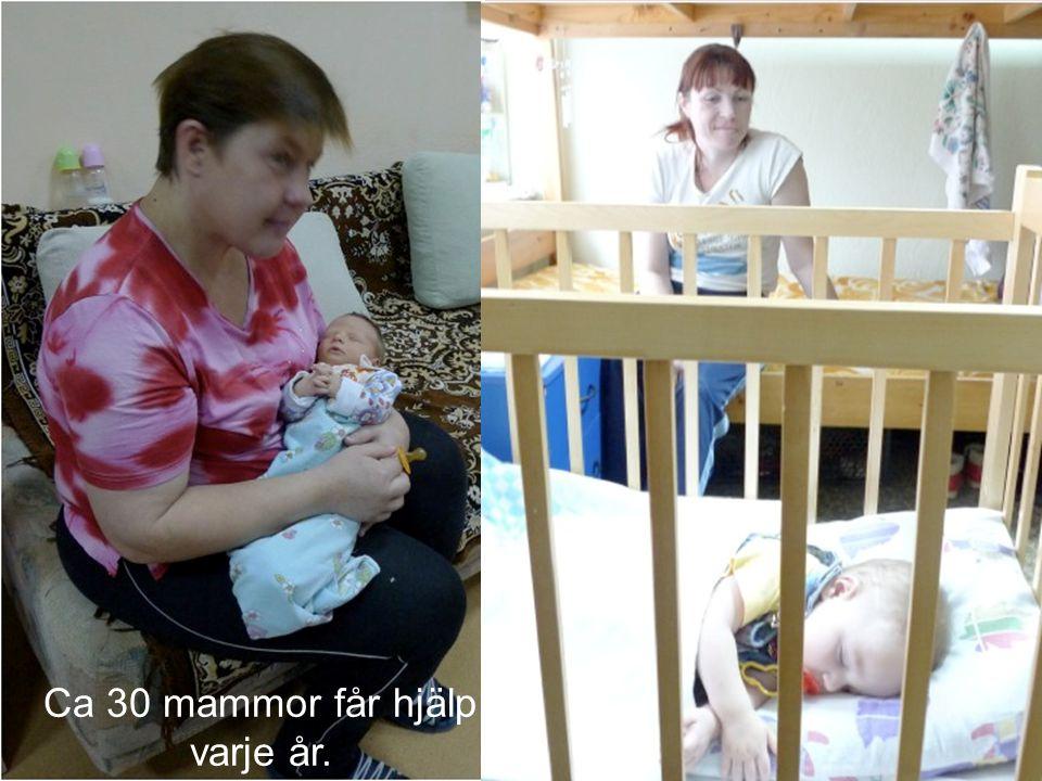 15 Ca 30 mammor får hjälp varje år.