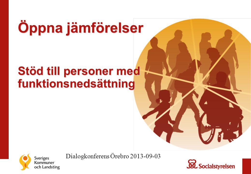 Öppna jämförelser Stöd till personer med funktionsnedsättning Dialogkonferens Örebro 2013-09-03