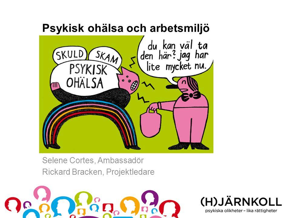 Psykisk ohälsa och arbetsmiljö Selene Cortes, Ambassadör Rickard Bracken, Projektledare