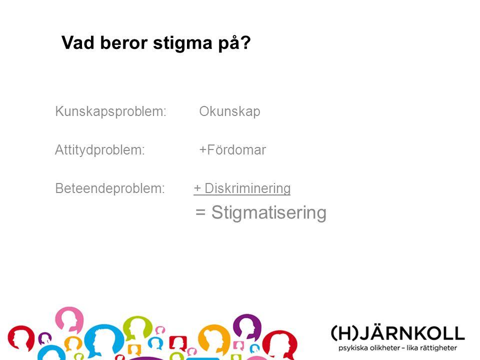 Kunskapsproblem •Vad är psykisk ohälsa.•Hur vanligt är det.