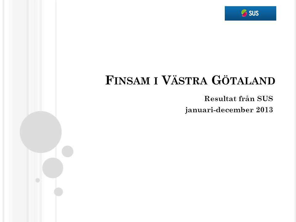 F INSAM I V ÄSTRA G ÖTALAND Resultat från SUS januari-december 2013
