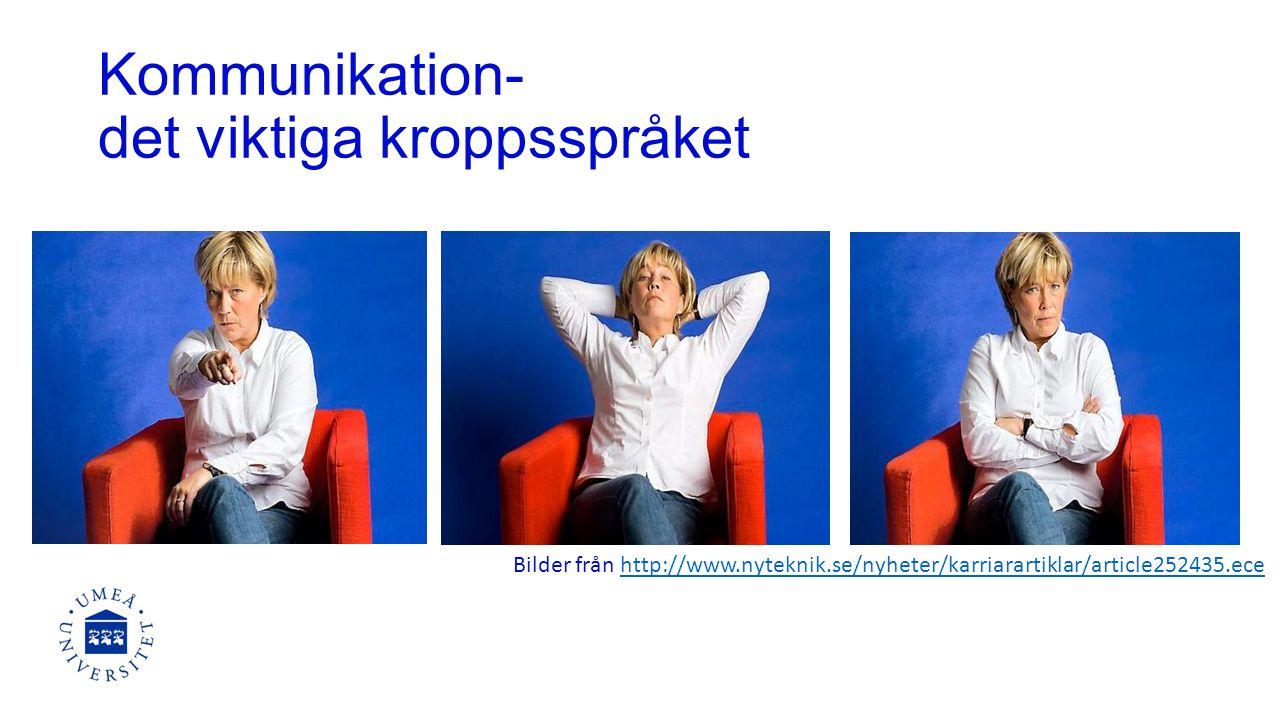 Kommunikation- det viktiga kroppsspråket Bilder från http://www.nyteknik.se/nyheter/karriarartiklar/article252435.ecehttp://www.nyteknik.se/nyheter/karriarartiklar/article252435.ece