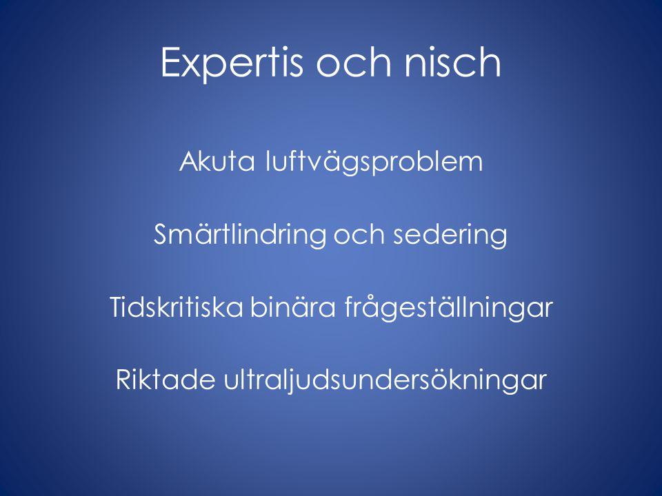 Kännetecken Läkarbaserad verksamhet Kompetens innefattar alla procedurer och omfattande teoretisk kunskap Certifiering