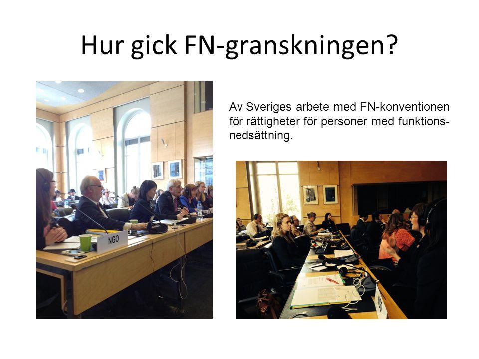 Tillbakablick 2006FN-konventionen för rättigheter för personer med funktionsnedsättning.