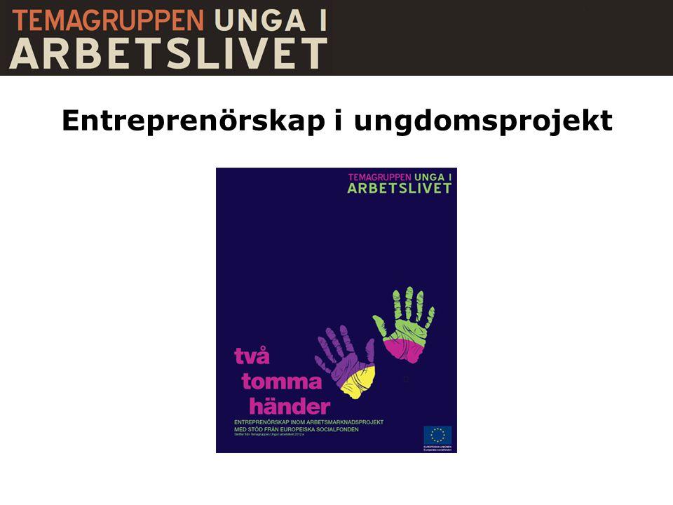 Entreprenörskap i ungdomsprojekt