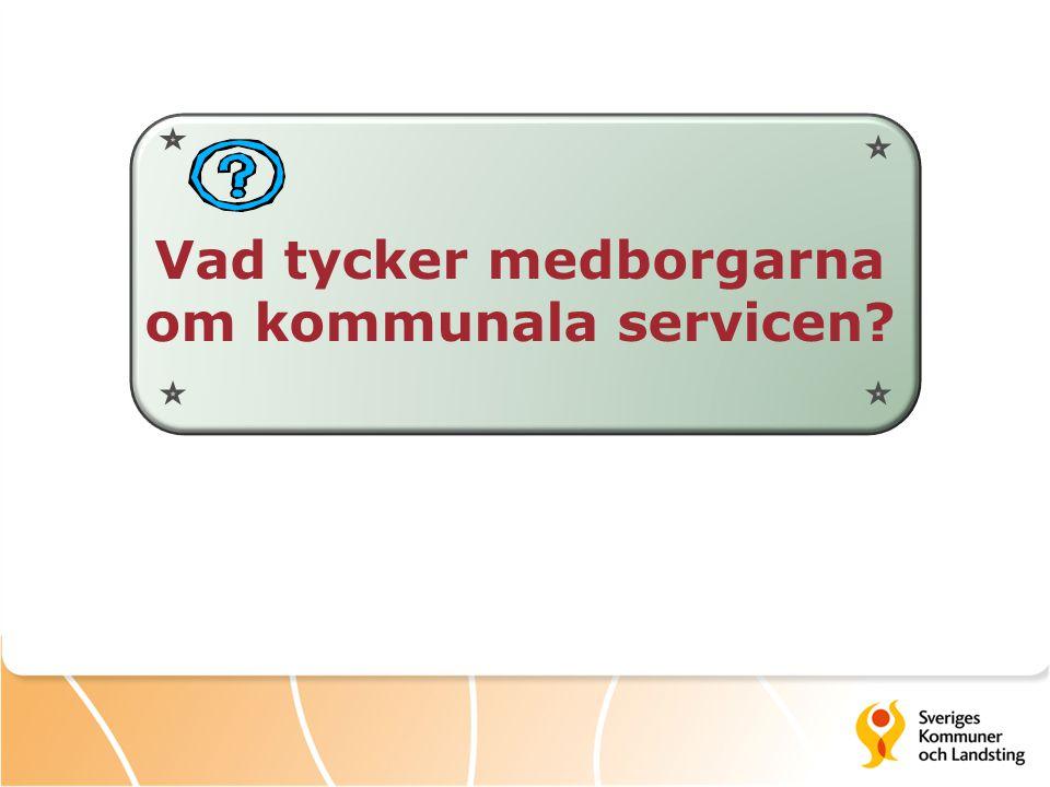 Vad tycker medborgarna om kommunala servicen?