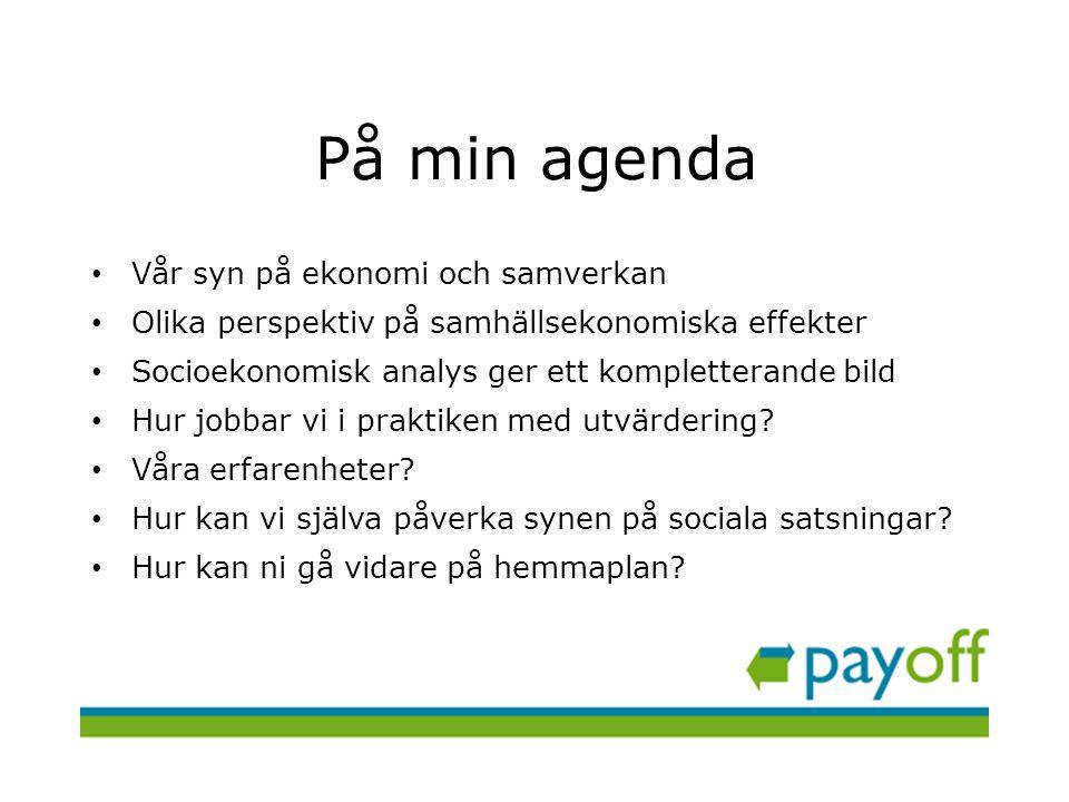 payoff utvärderar satsningar och verksamheter inom välfärd och för ett hållbart samhälle payoff utvärdering och analys AB