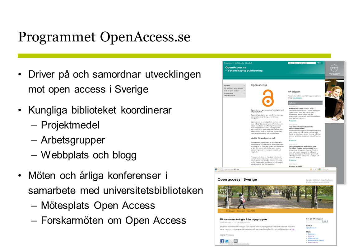 Open access i praktiken…