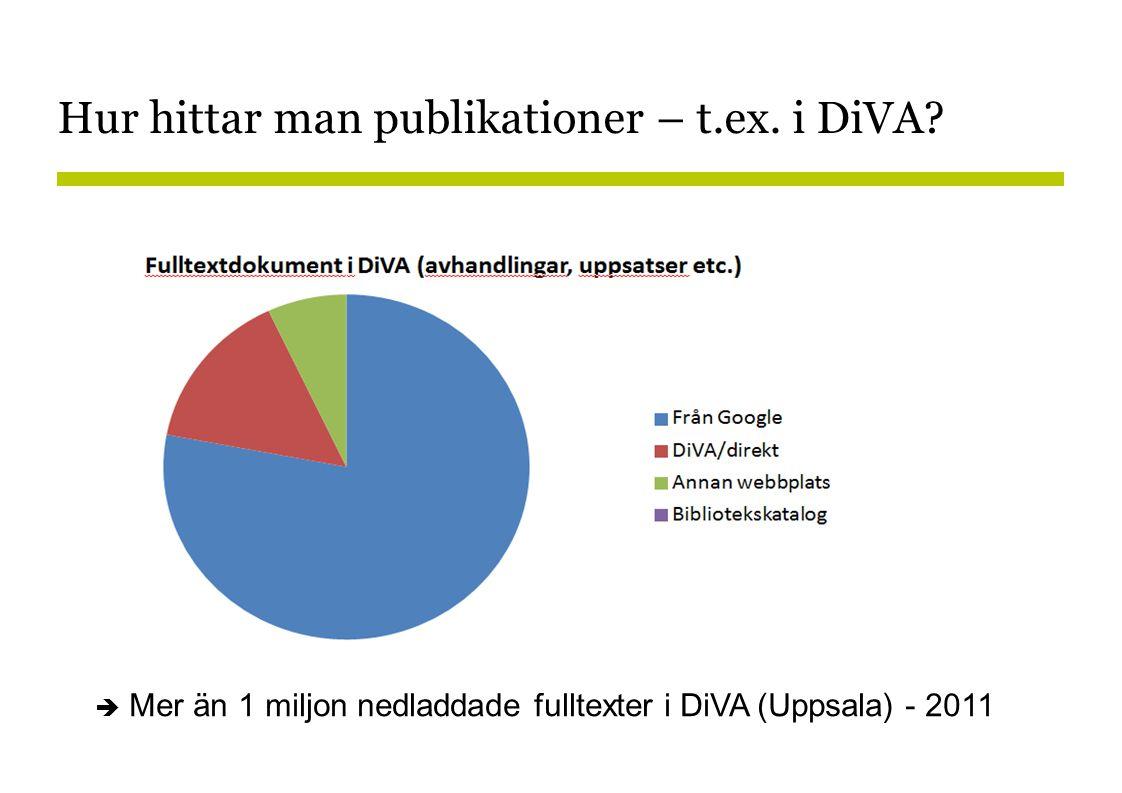 Hur hittar man publikationer – t.ex.i DiVA.
