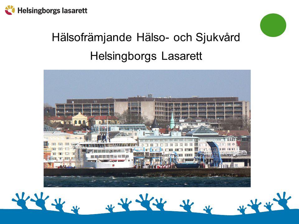 Hälsofrämjande sjukvård Helsingborgs lasarett Patient- och individperspektivet Befolkningsperspektivet Medarbetarperspektivet Styr- och ledningsperspektivet
