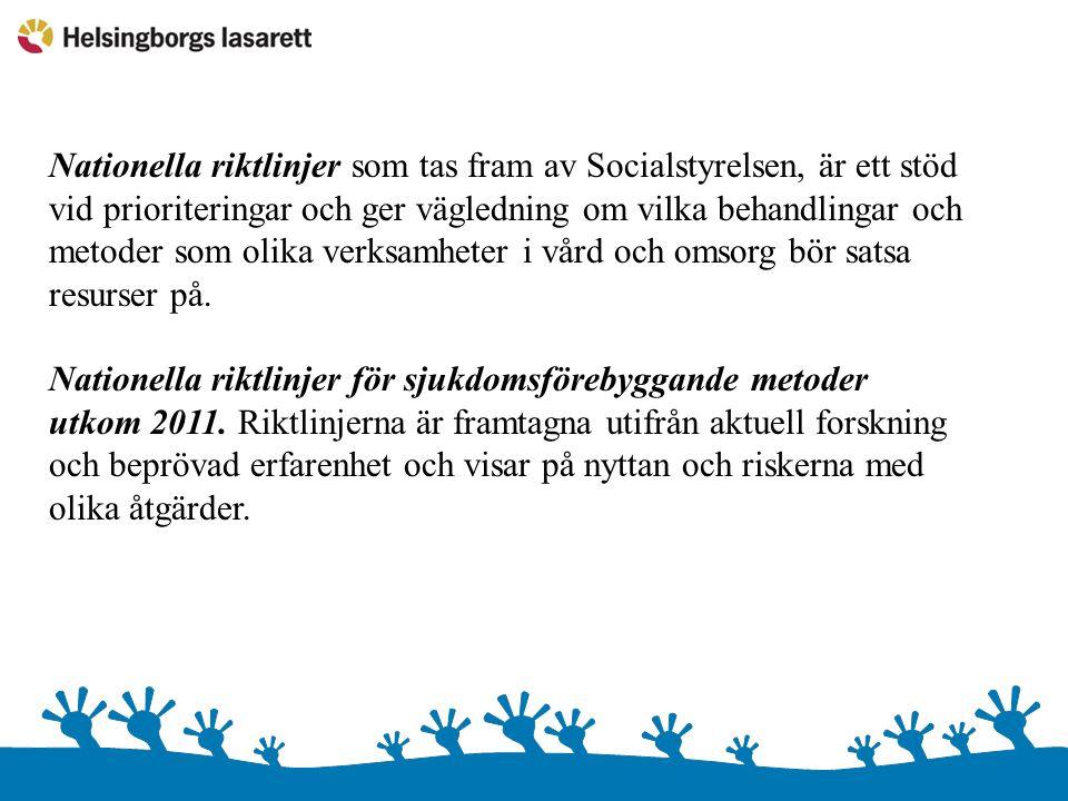 Riktlinjerna tar upp rekommendationer om de fyra levnadsvanor som tillsammans bidrar mest till den samlade sjukdomsbördan i Sverige.