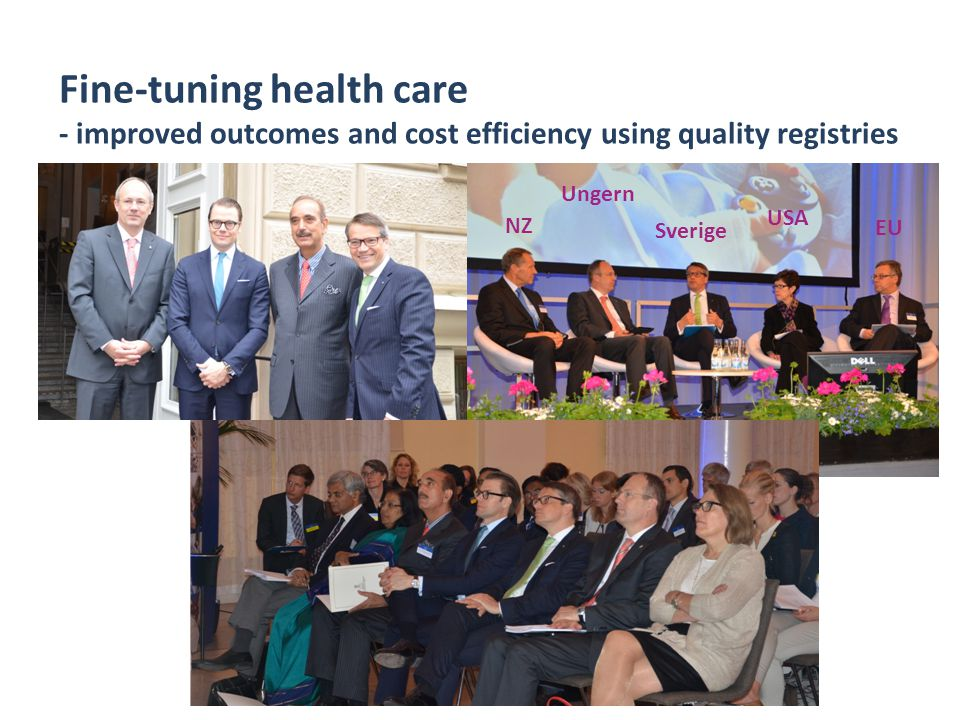 Fine-tuning health care - improved outcomes and cost efficiency using quality registries K. Nordqvist 2012-11-12 NZ Ungern Sverige USA EU