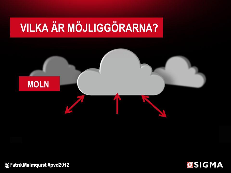 VILKA ÄR MÖJLIGGÖRARNA? MOLN @PatrikMalmquist #pvd2012