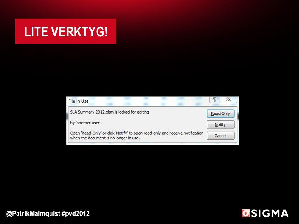 LITE VERKTYG! @PatrikMalmquist #pvd2012