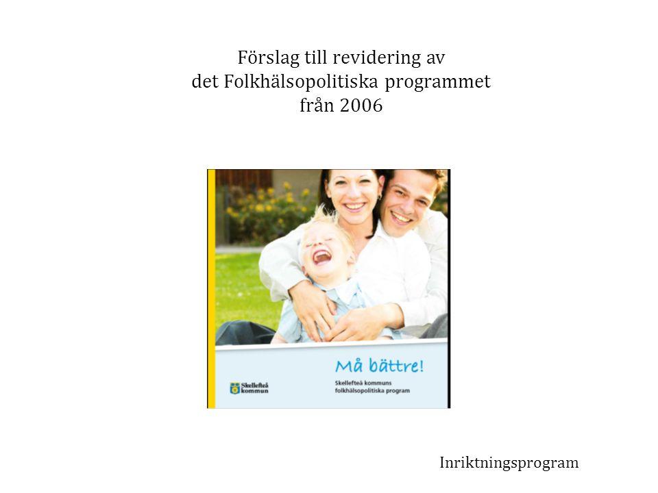 Förslag till revidering av det Folkhälsopolitiska programmet från 2006 Inriktningsprogram