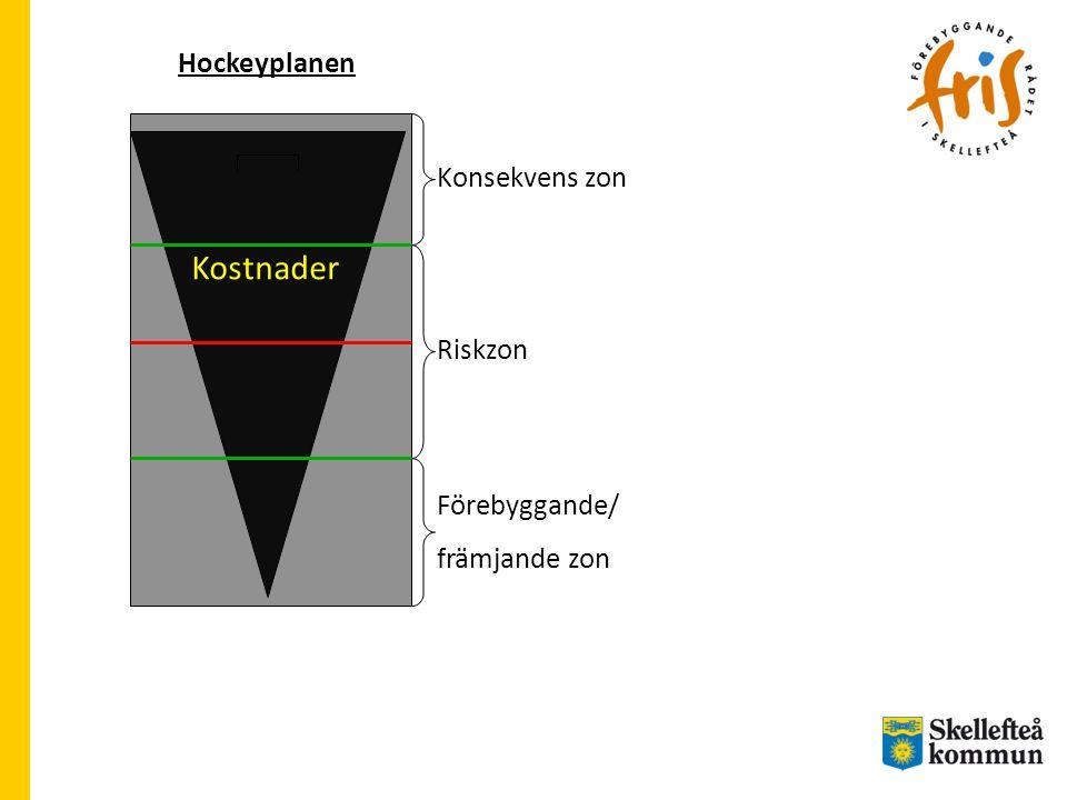 Hockeyplanen Förebyggande/ främjande zon Riskzon Konsekvens zon Kostnader