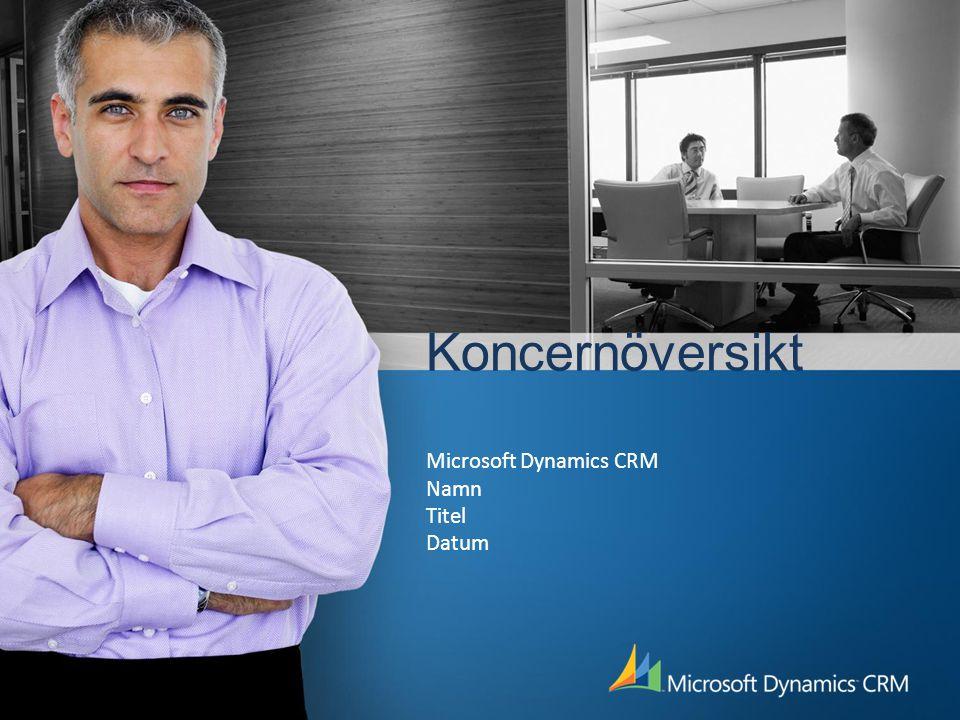 Koncernöversikt Microsoft Dynamics CRM Namn Titel Datum