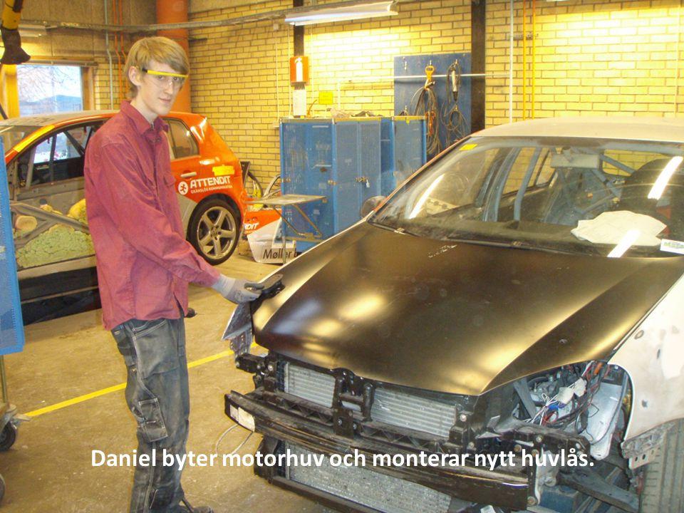 Daniel riktar Hö-Bakskärm med hjälp av Multi-Spot.