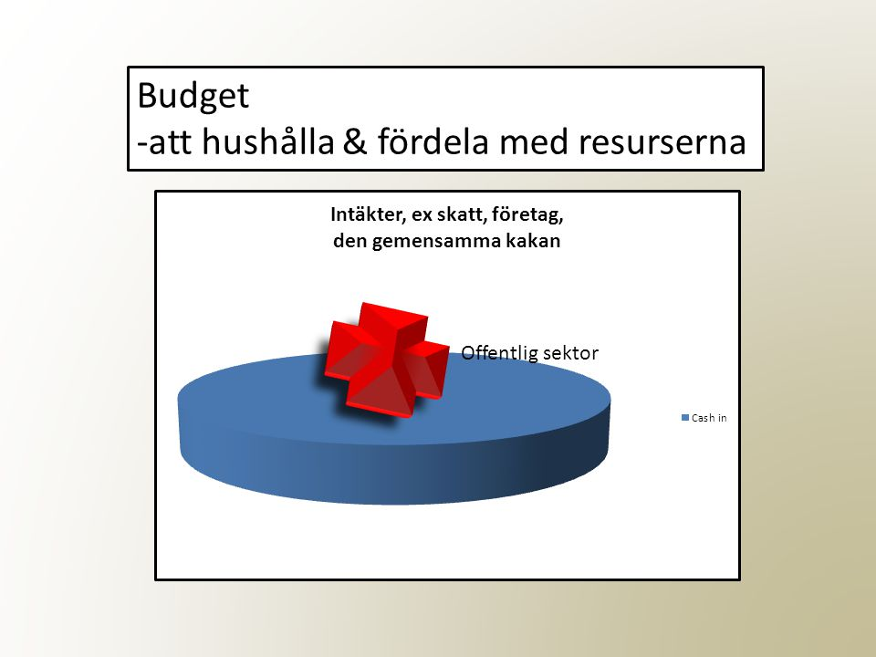 Offentlig sektor Budget -att hushålla & fördela med resurserna