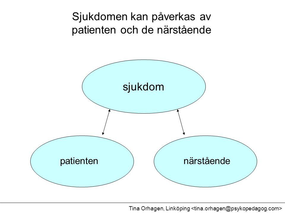 sjukdom patientennärstående Sjukdomen kan påverkas av patienten och de närstående Tina Orhagen, Linköping